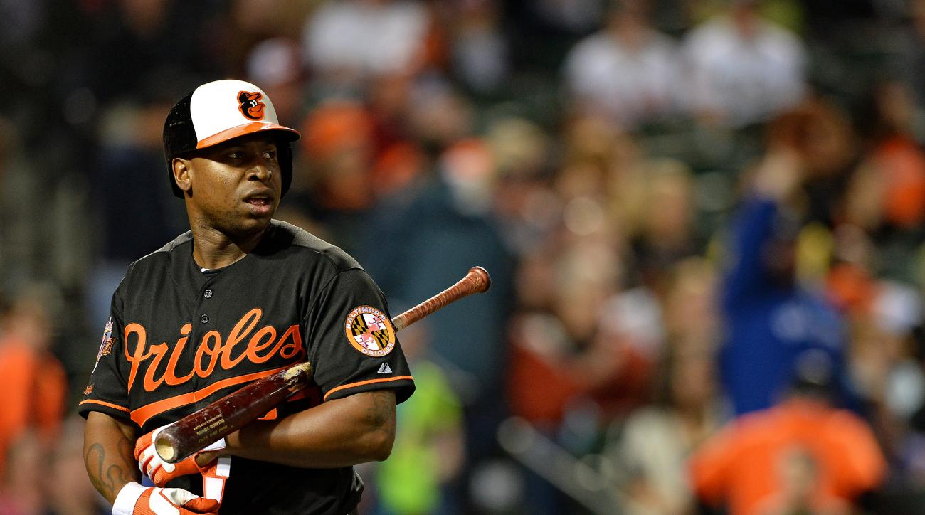 baltimore orioles delmon young return 2015