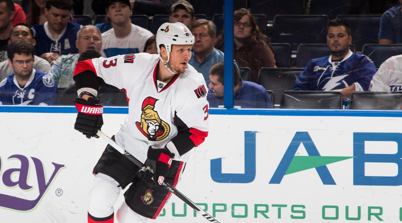 marc methot injury debut ottawa senators