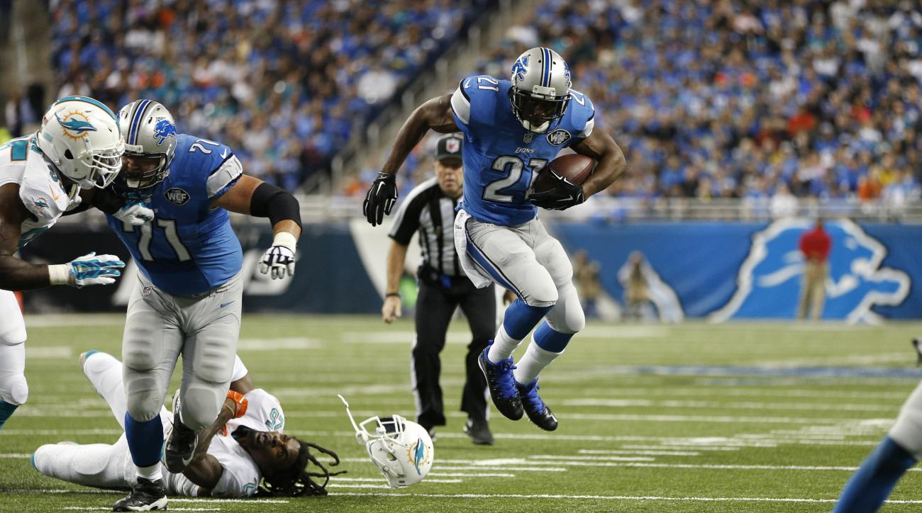 Lions' Reggie Bush ankle injury return