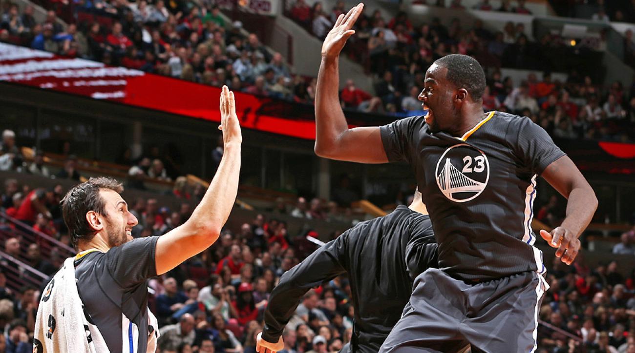 Forward Draymond Green scored a career high 31 points against the Bulls.
