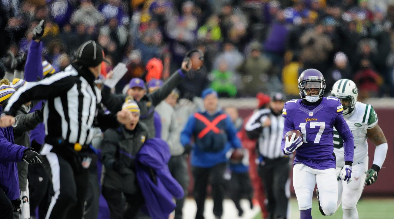 Minnesota Vikings Jarius Wright Teddy Bridgewater touchdown New York Jets