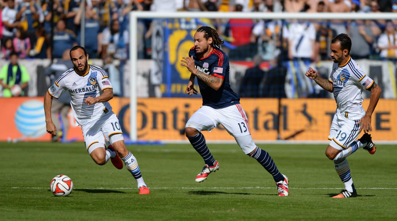 Jermaine Jones, center, and the New England Revolution couldn't get over the MLS Cup hump, falling to the LA Galaxy for the club's fifth title-game loss.