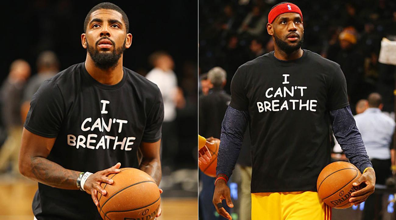 LeBron James, Kyrie Irving address reasons for \u0027I can\u0027t breathe\u0027 shirts