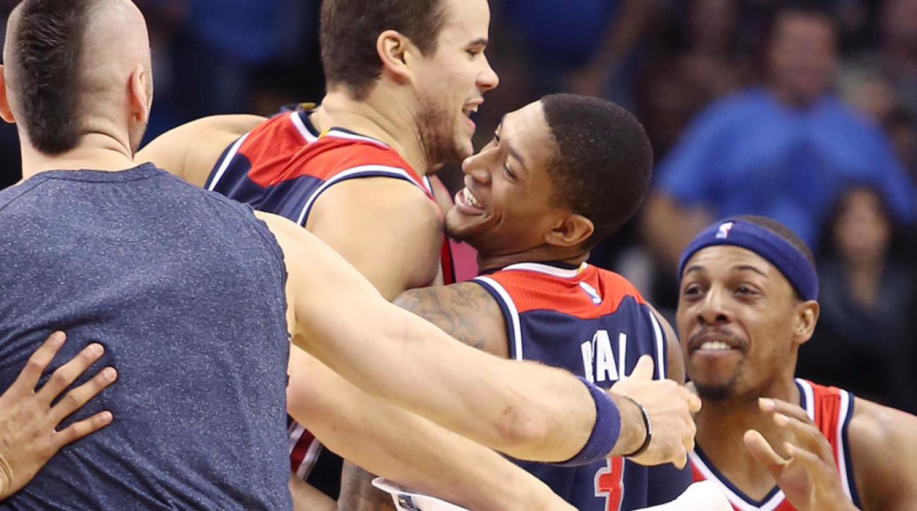 Wizards' Brad Beal finished a buzzer-beating lob to defeat the Magic.