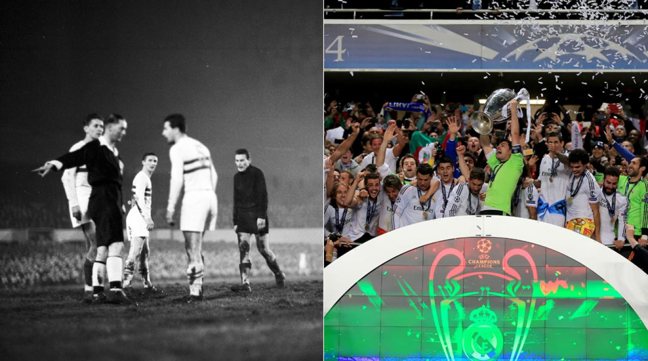 They didn't know it then, but Honved and Wolves, left, had their 1954 match serve as the genesis for today's UEFA Champions League.
