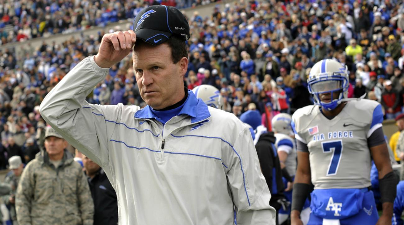 Air Force coach Troy Calhoun college football playoff unamerican