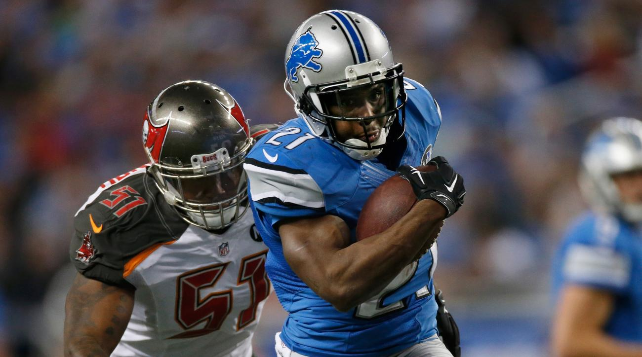 Lions' Reggie Bush ankle injury