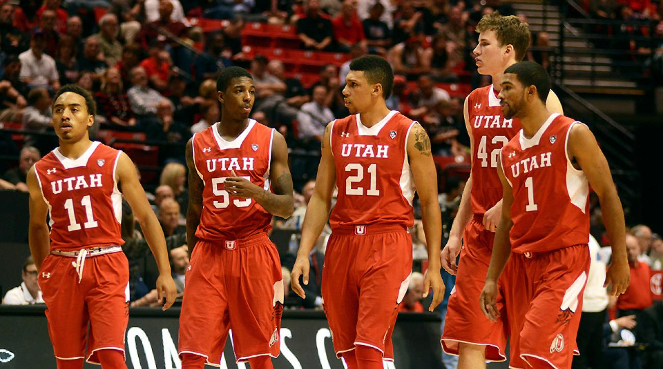Utah has one statement win this season, against Wichita State in overtime, and it looks for a second against the Jayhawks in Kansas City.