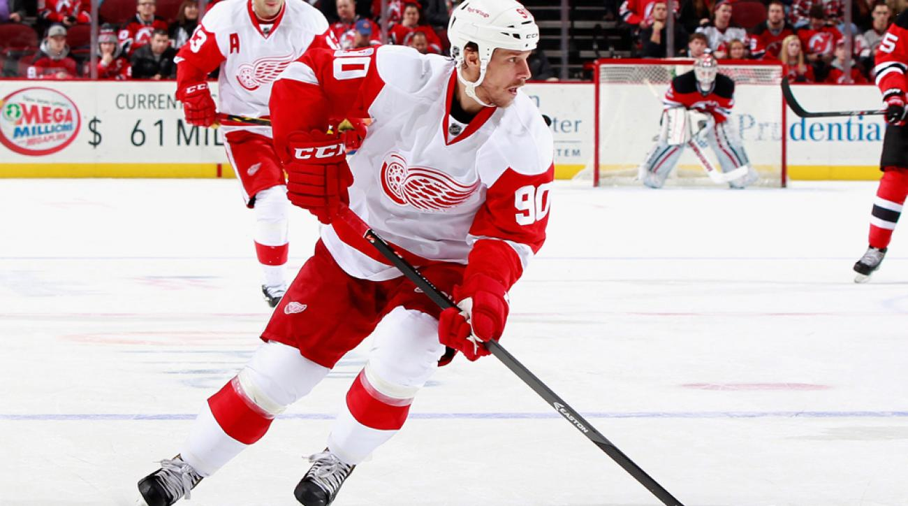 Detroit Red Wings center Stephen Weiss has a shoulder injury and is day-to-day.