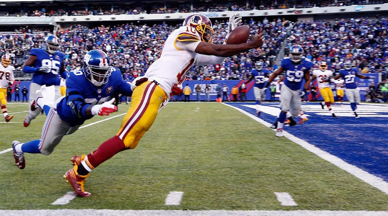 Robert Griffin III touchdown run overturned after replay in Redskins-Giants game
