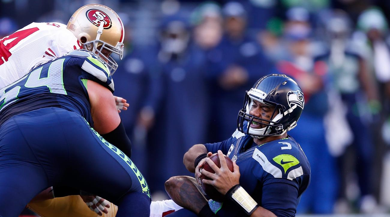 Seattle Seahawks San Francisco 49ers roughing the passer penalty Nick Moody