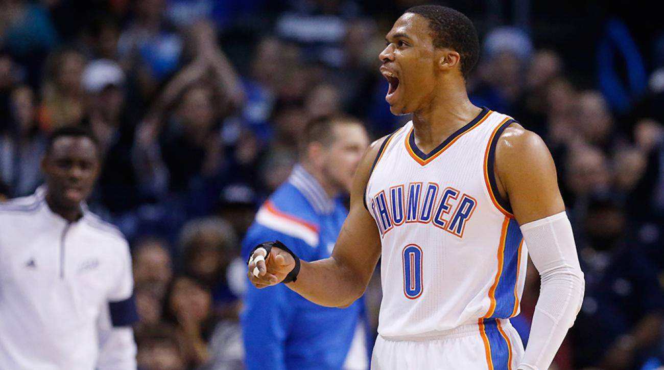 Russell Westbrook Thunder dunk against Kings