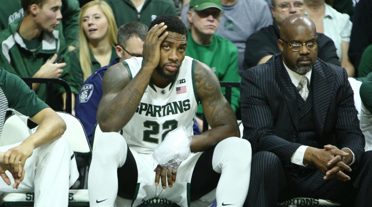 Michigan State F Branden Dawson injury sprained wrist