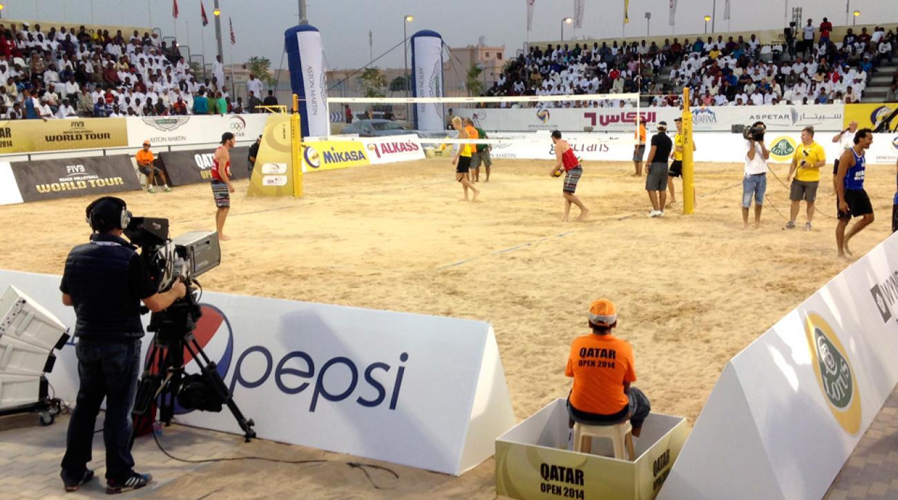 Qatar fake fans volleyball