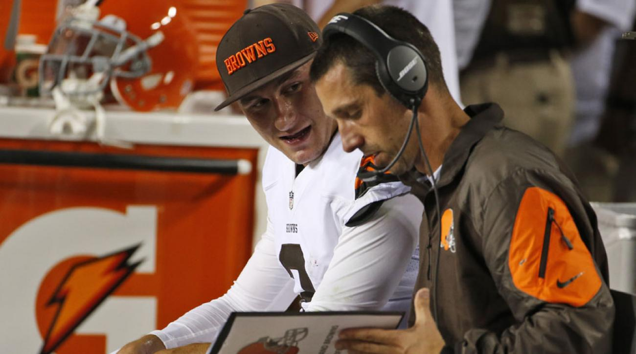 cleveland browns johnny manziel kyle shanahan growing pains