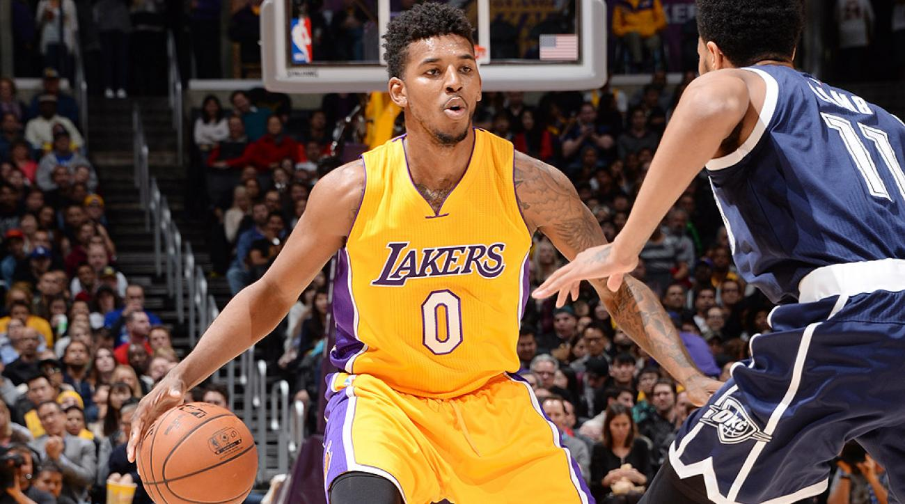 Lakers guard Nick Young was ejected Friday night against the Lakers.