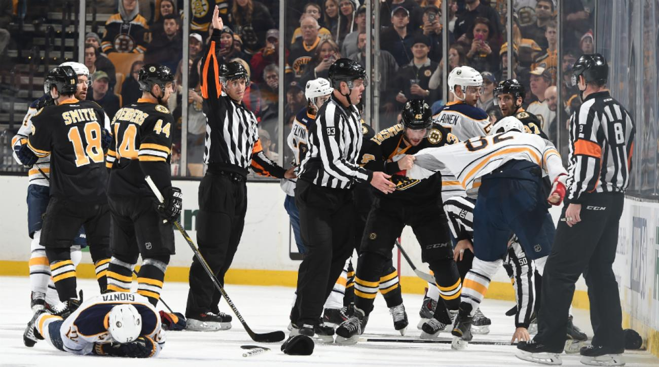 Bruins' Matt Barkowski ejected hit Sabres' Brian Gionta