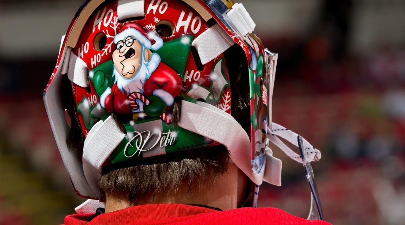 Red Wings' Petr Mrazek mask