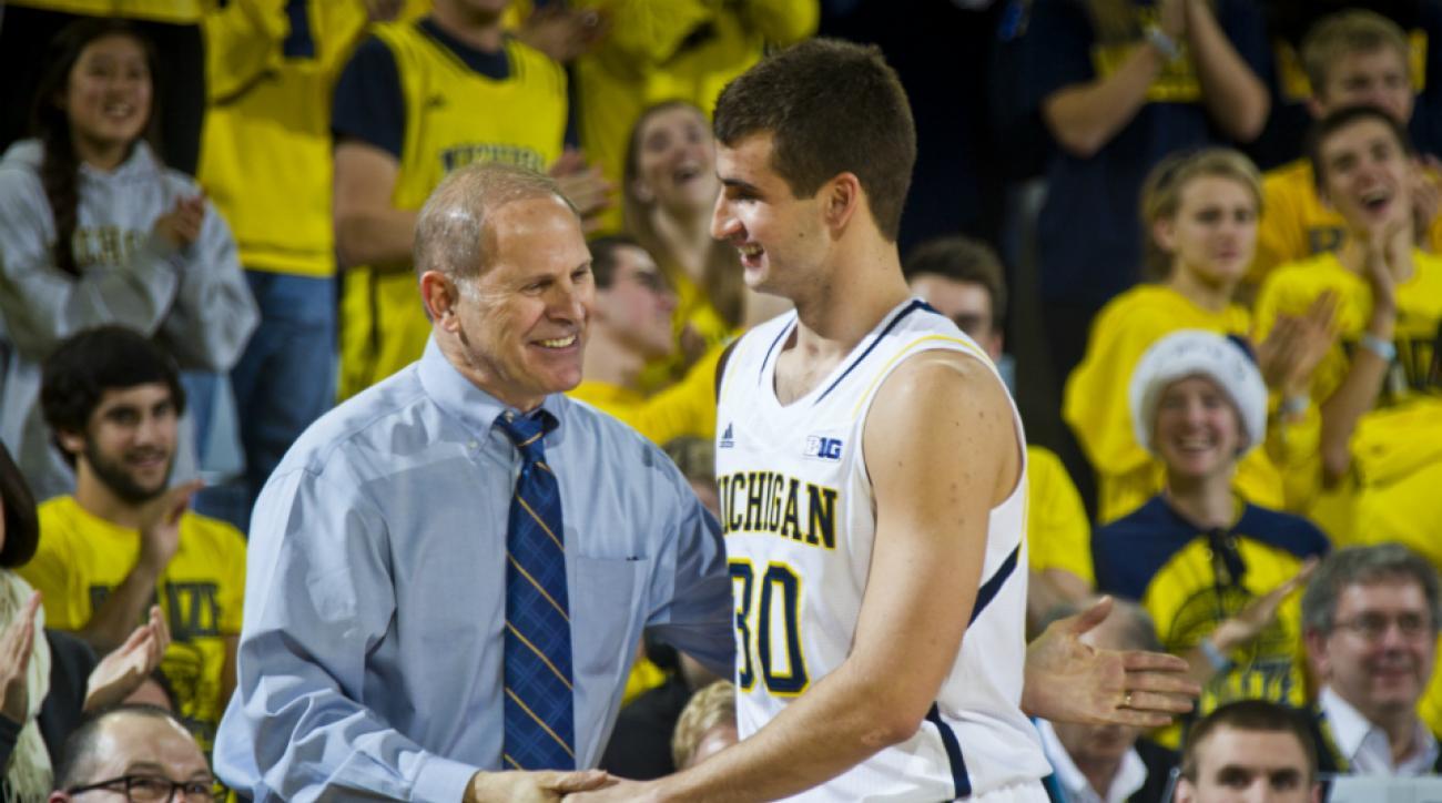 Michigan's Austin Hatch scores first point