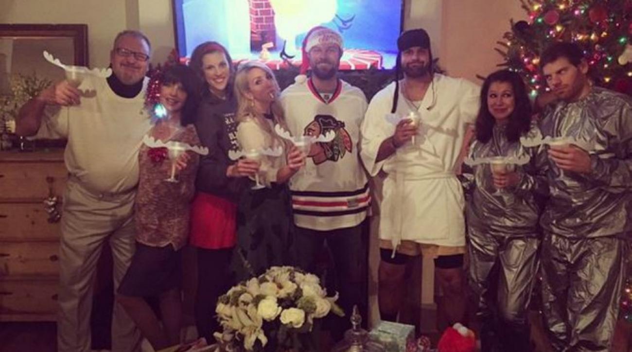 John and Jordan Danks threw a Christmas Vacation themed party
