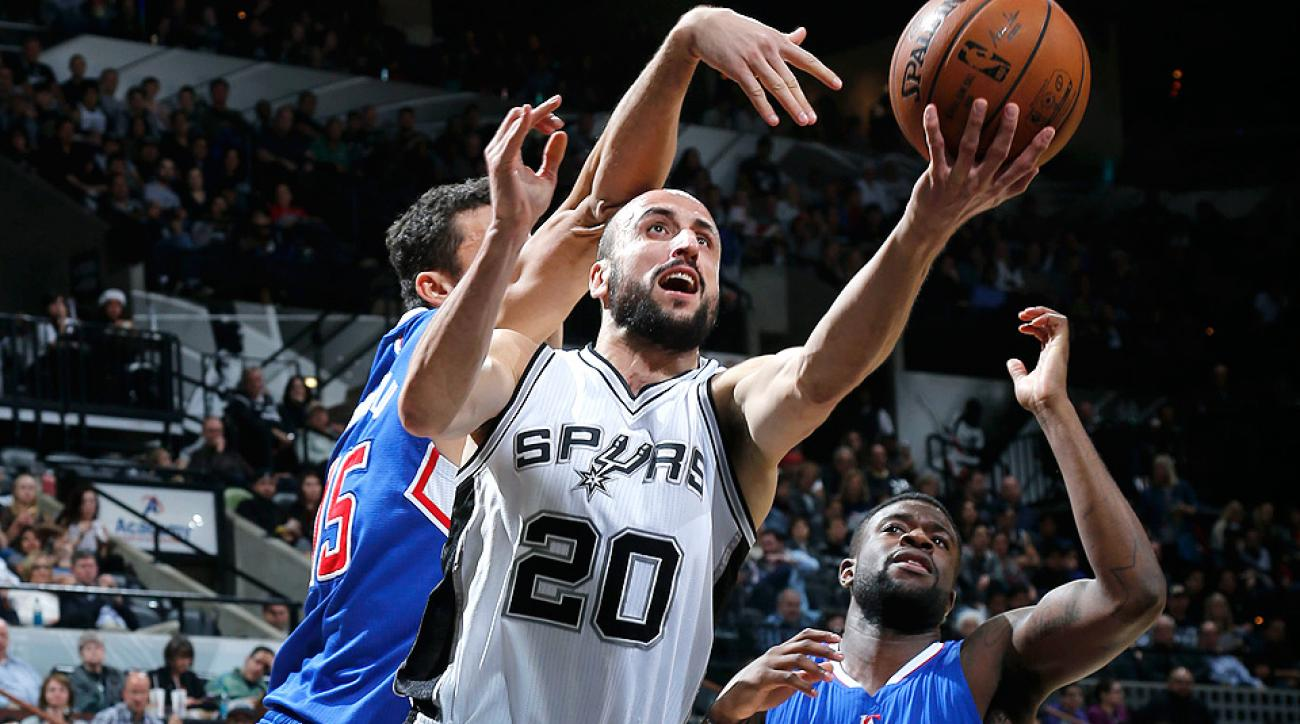 Spurs guard Manu Ginobili had perhaps the pass of the year against the Clippers.