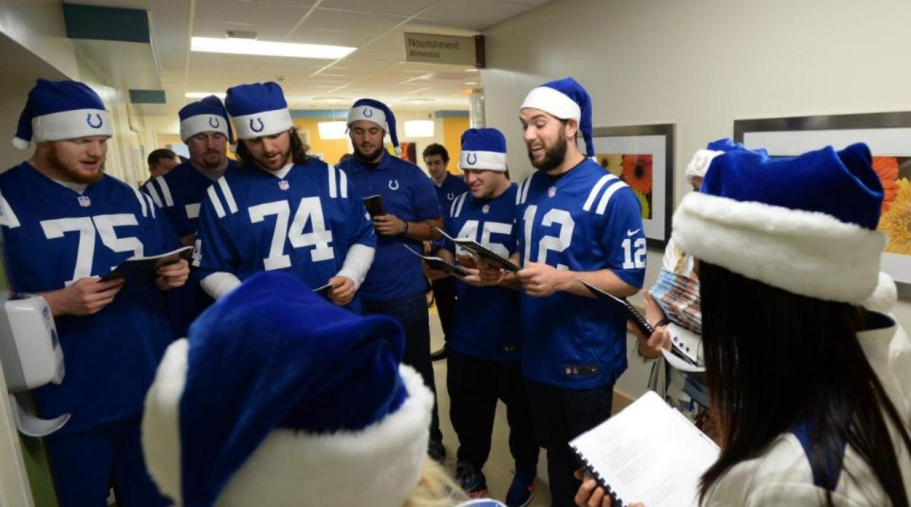 indianapolis colts andrew luck christmas carols video