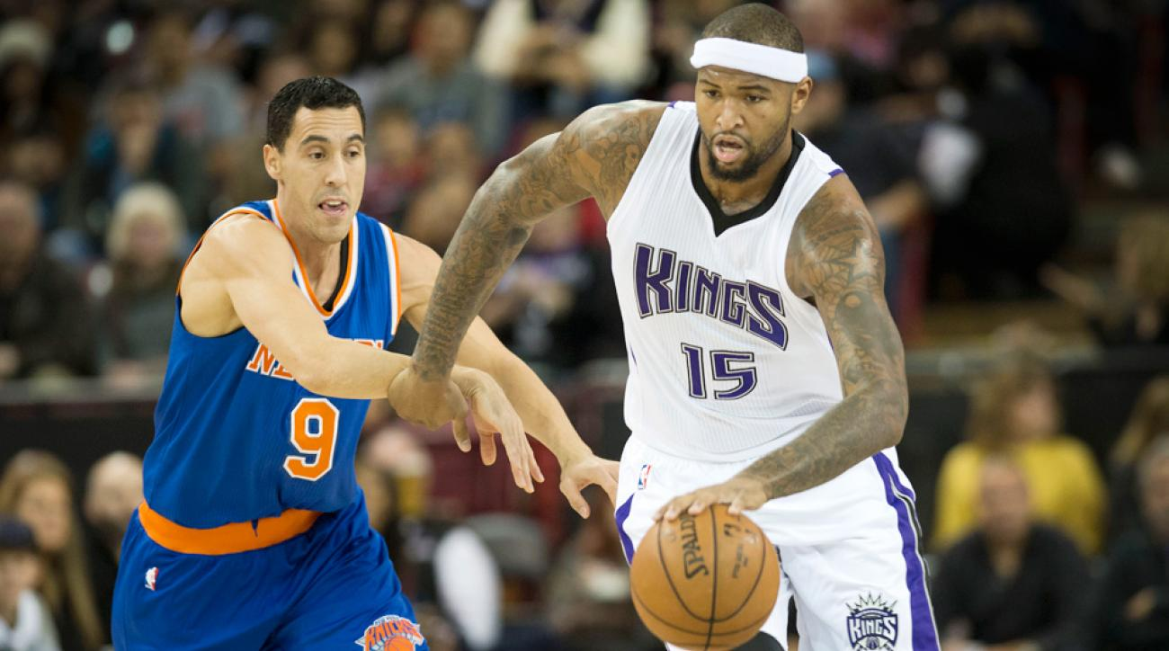 Kings center DeMarcus Cousins scored 39 points in an overtime win over the Knicks.