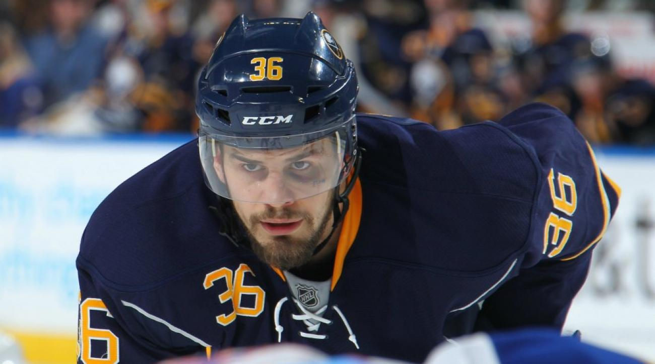 Buffalo Sabres Patrick Kaleta punched himself in the face