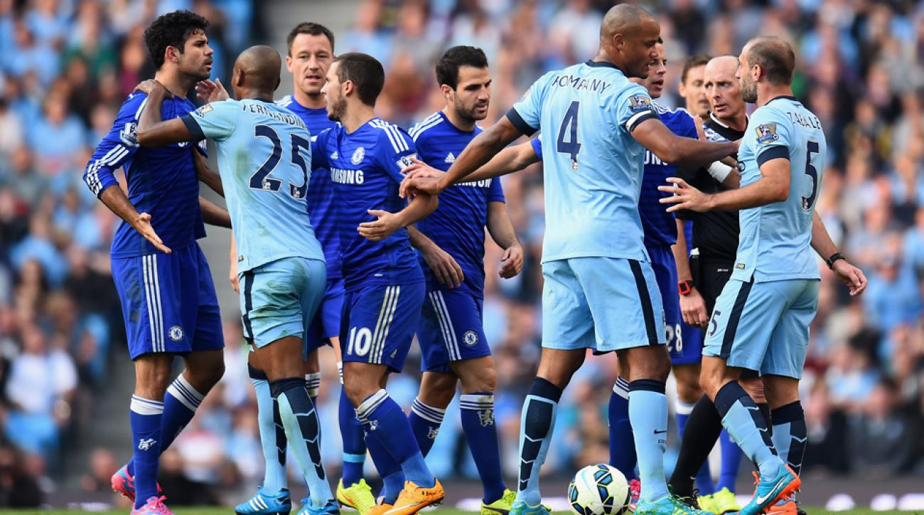 Chelsea and Manchester City are battling it out at the top of the EPL table at the midway point in the 2014-15 season.