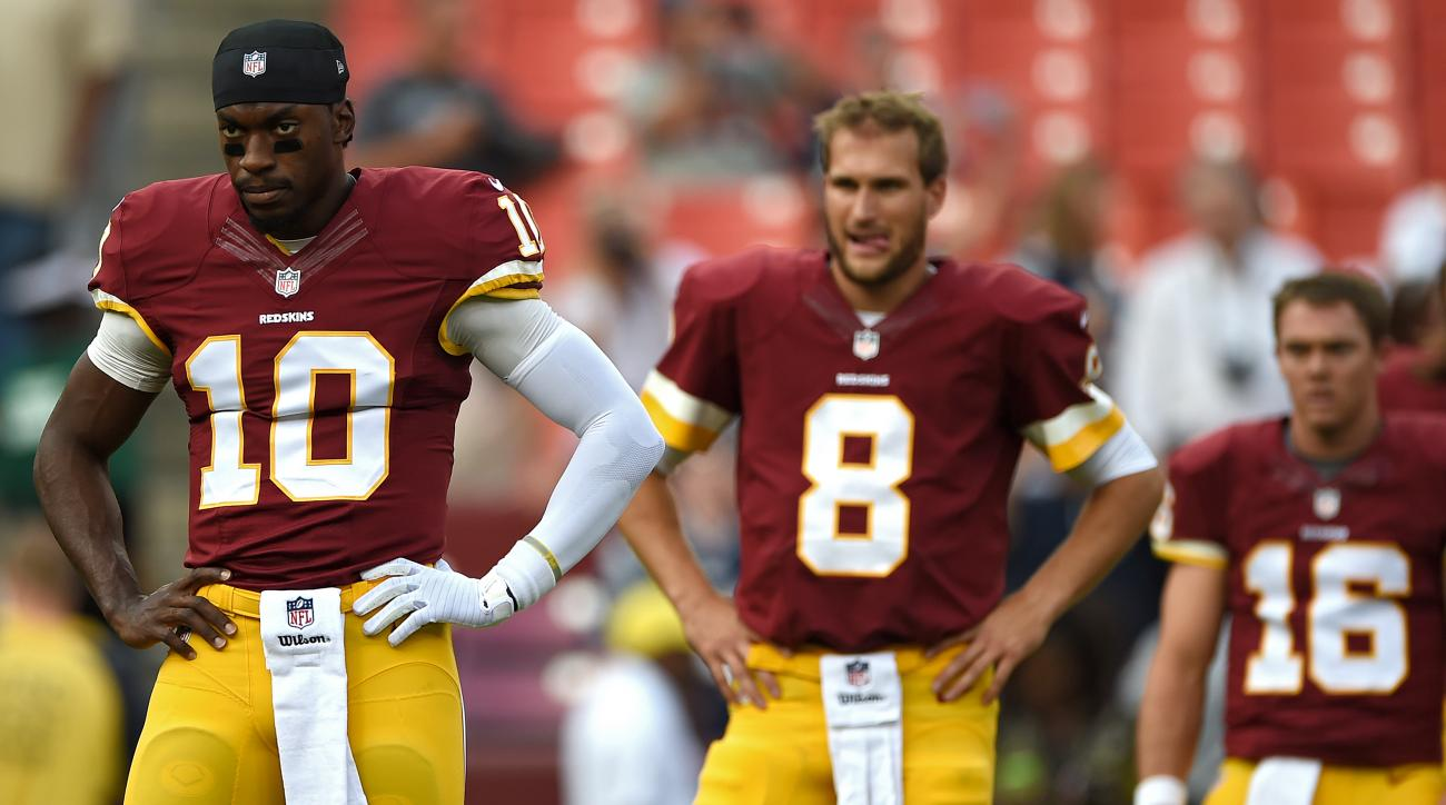 washington redskins quarterback competition robert griffin iii kirk cousins