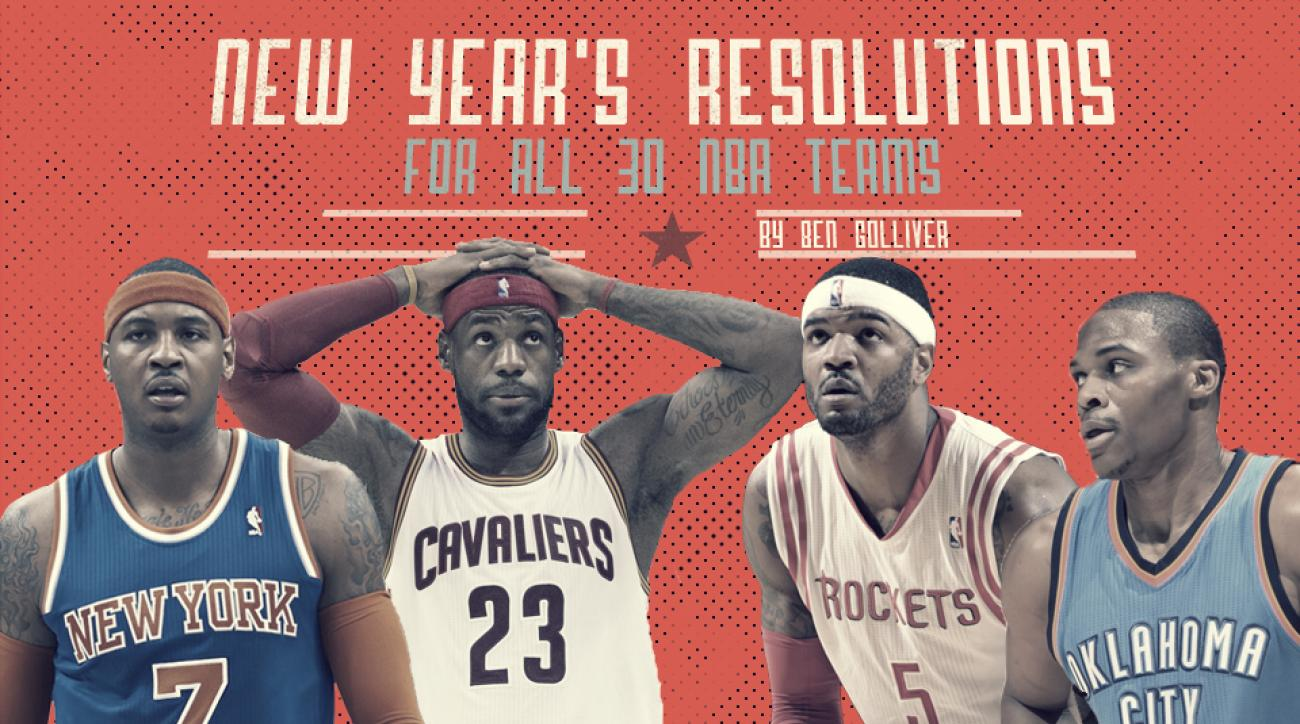 NBA New Year's resolutions