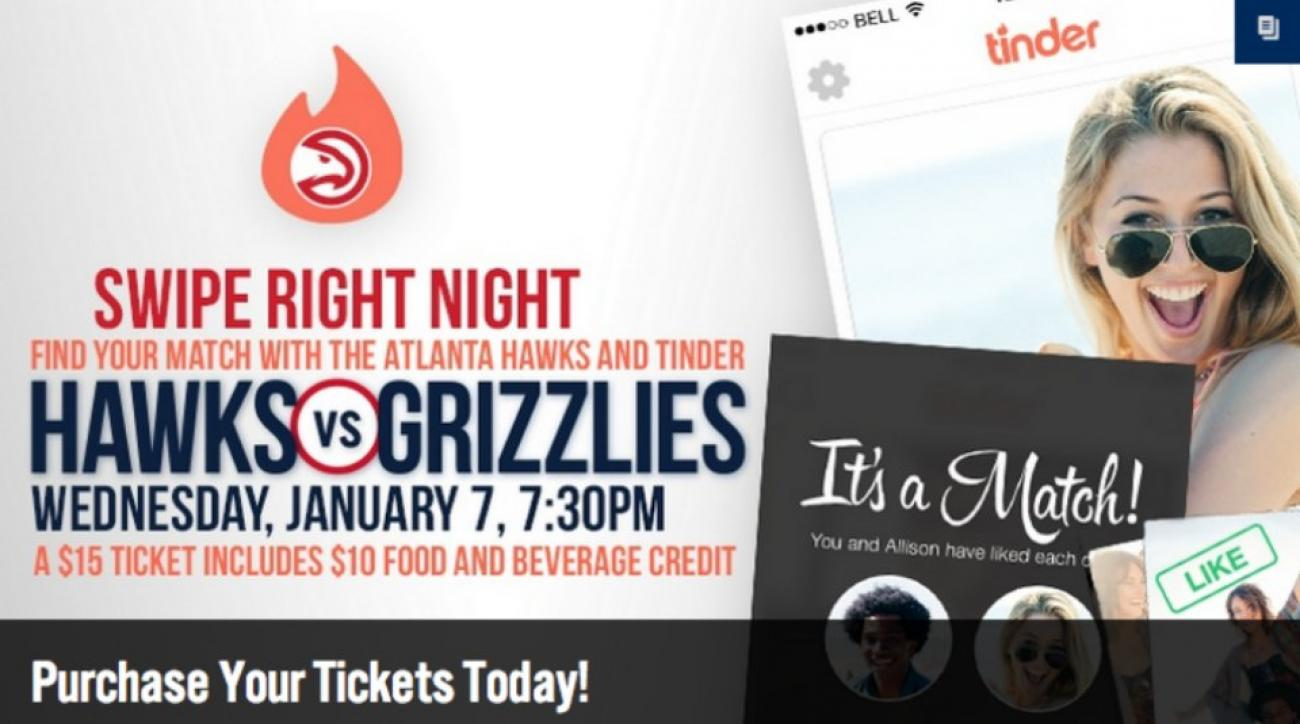 Atlanta Hawks are hosting a Tinder night