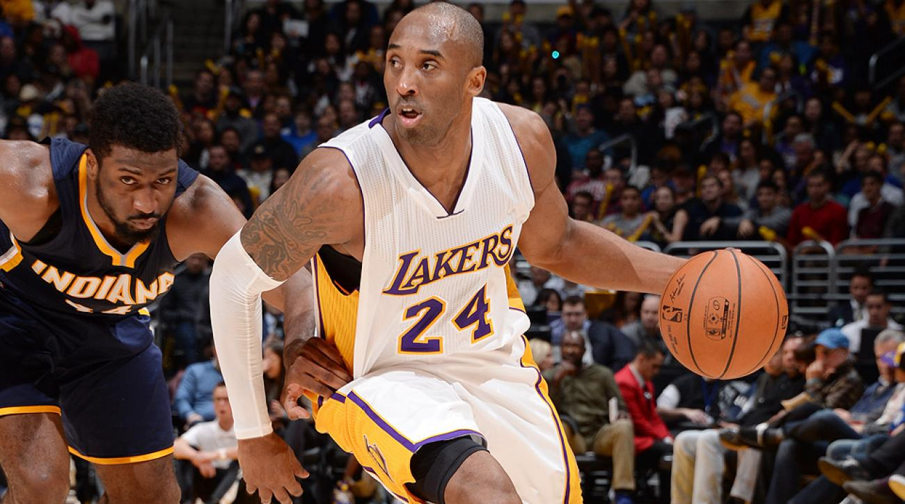 Lakers' Kobe Bryant hit a game-winning floater to defeat the Pacers in Los Angeles.