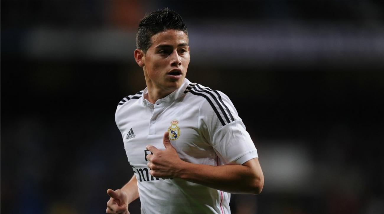James Rodriguez gives ref red card