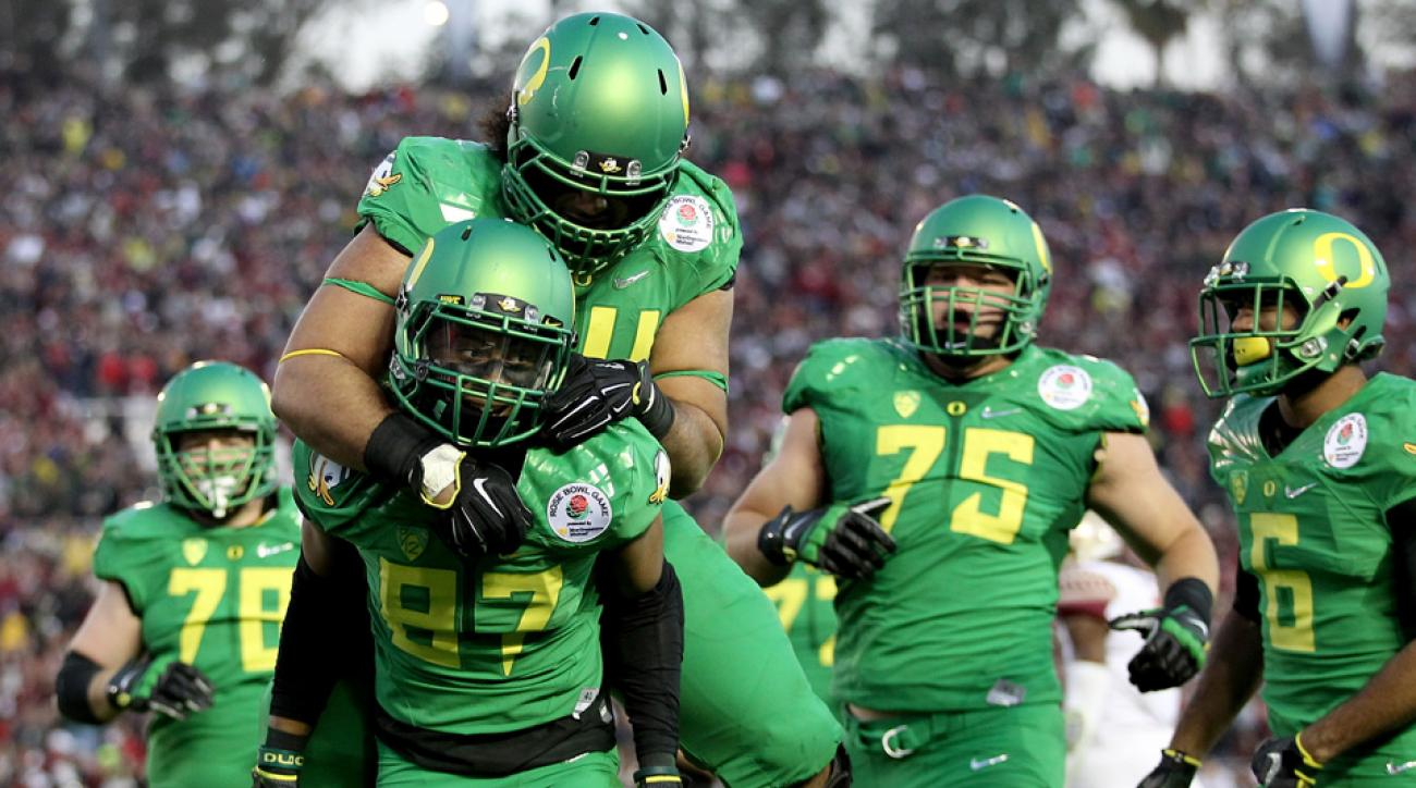 Oregon and Ohio State will meet in the College Football Playoff, which will offer financial assistance to families.