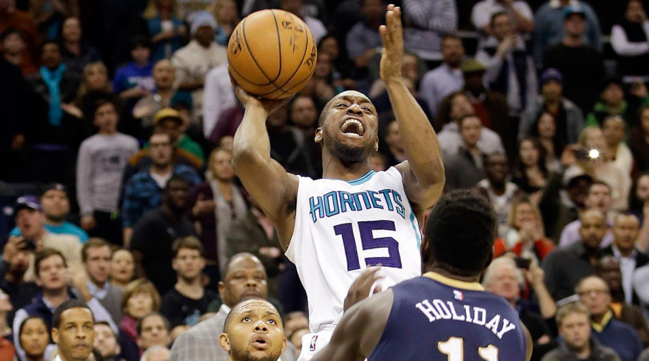 Kemba Walker hit the go-ahead shot for the Hornets against the Pelicans.