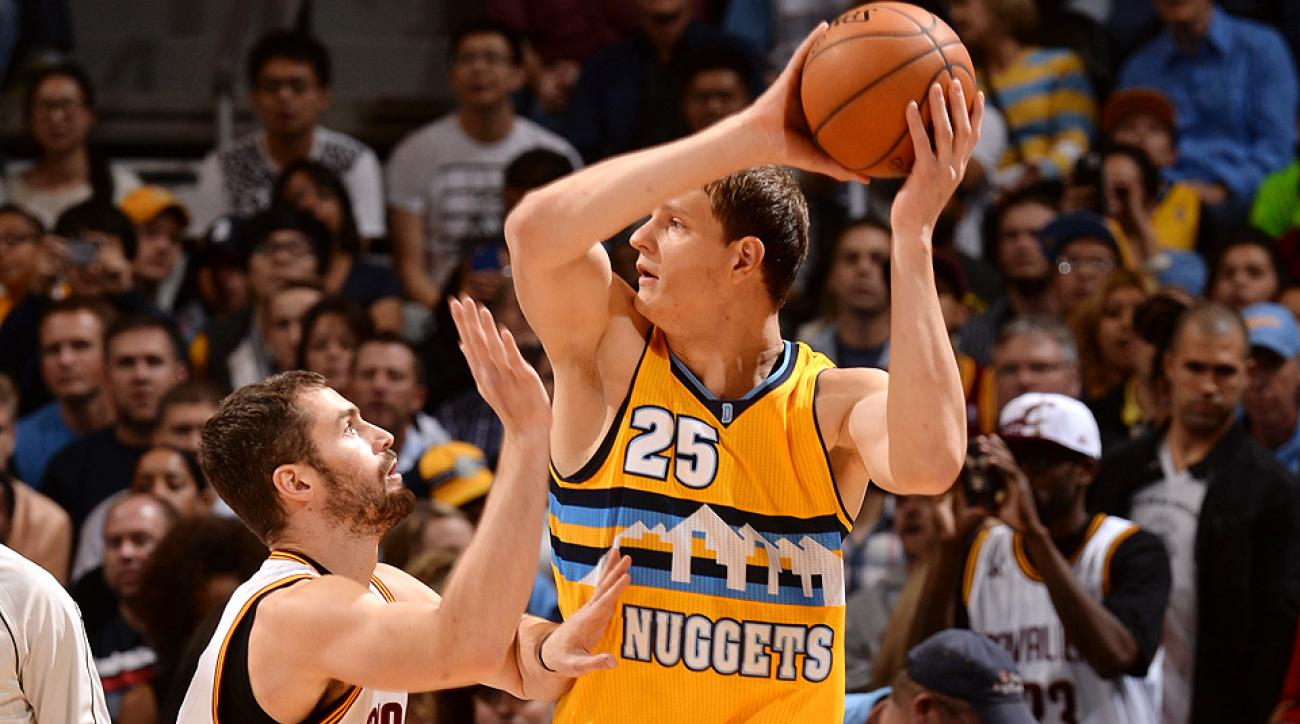 The Cavaliers acquired Nuggets center Timofey Mozgov for two first-round picks.
