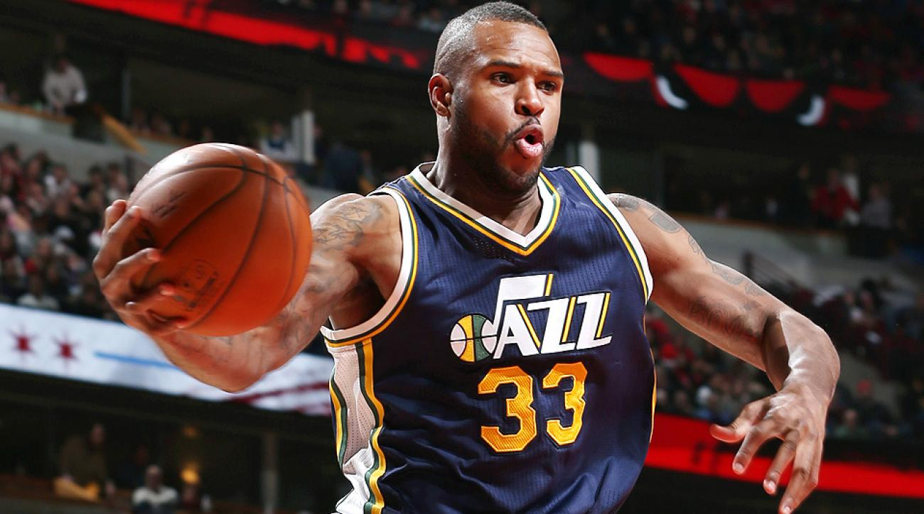 Jazz forward Trevor Booker had a ridiculous shot against the Thunder on Friday night.