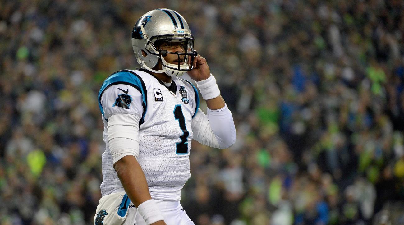 Carolina Panthers Cam Newton pick six Seattle Seahawks