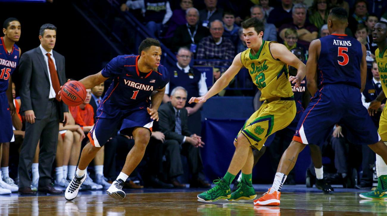 Virginia vs. Notre Dame Tony Bennett Justin Anderson