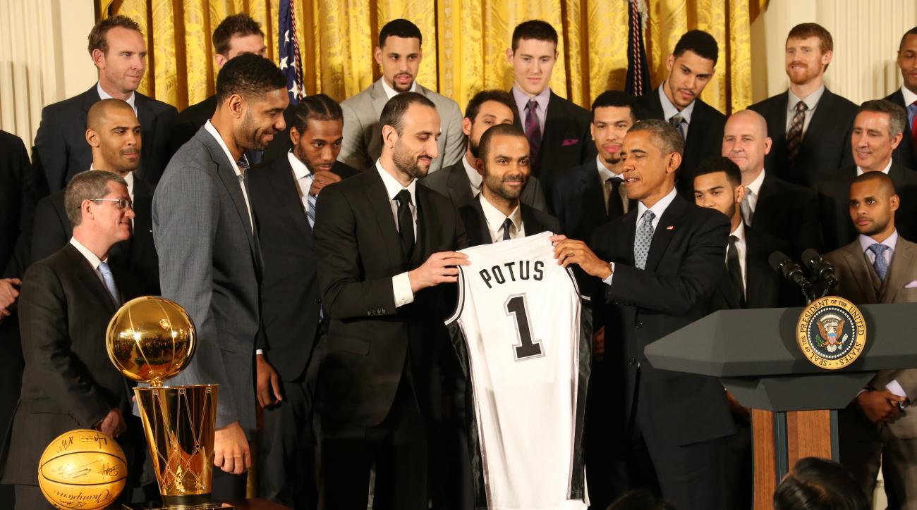president obama san antonio spurs joke