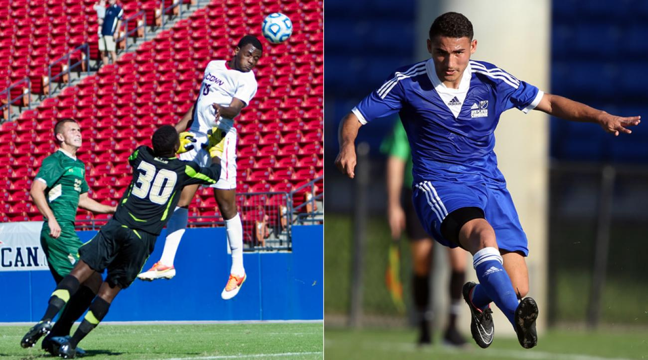 Cyle Larin, left, went first overall, but Cristian Roldan slipped to 16th, when Seattle traded up to take him.