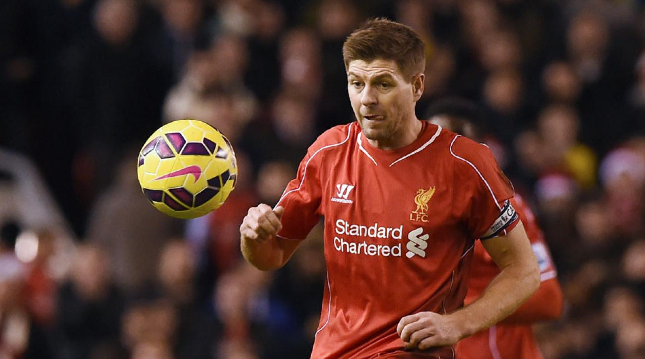 Steven Gerrard, signed by MLS, could return to Liverpool on loan.