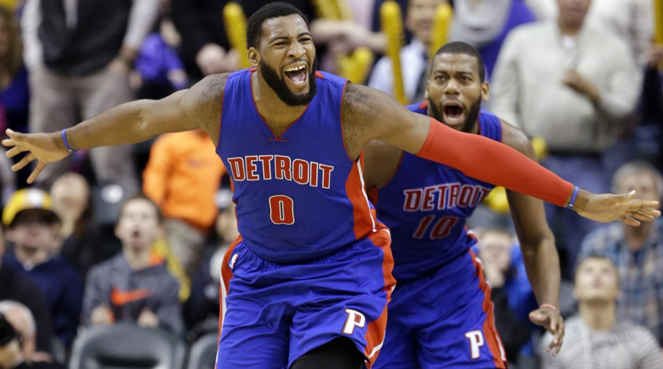 Pistons' Andre Drummond tipped in the game-winning basket to beat the Pacers.