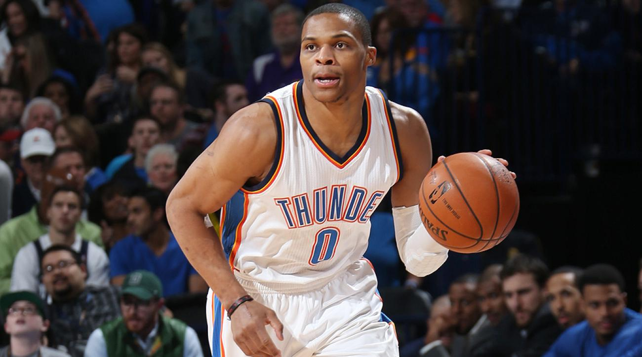Thunder's Russell Westbrook threw down a crazy dunk against the Warriors.