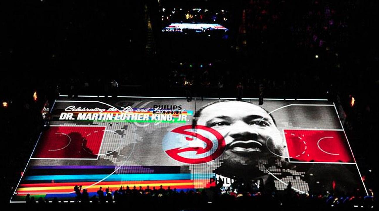Atlanta Hawks MLK day court projection