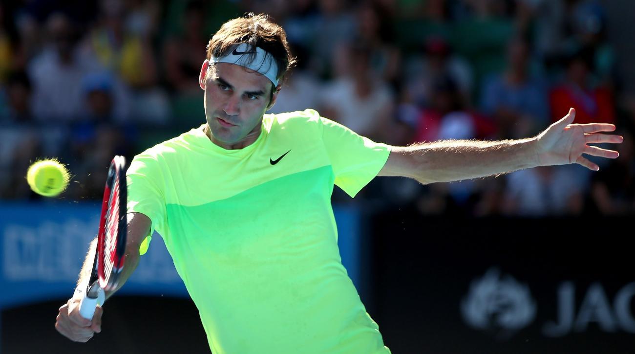 Roger Federer drop shot