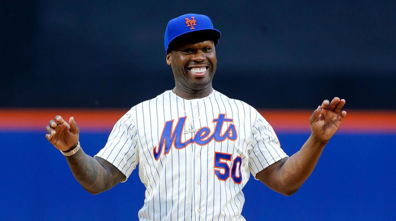 50 Cent New York Mets first pitch