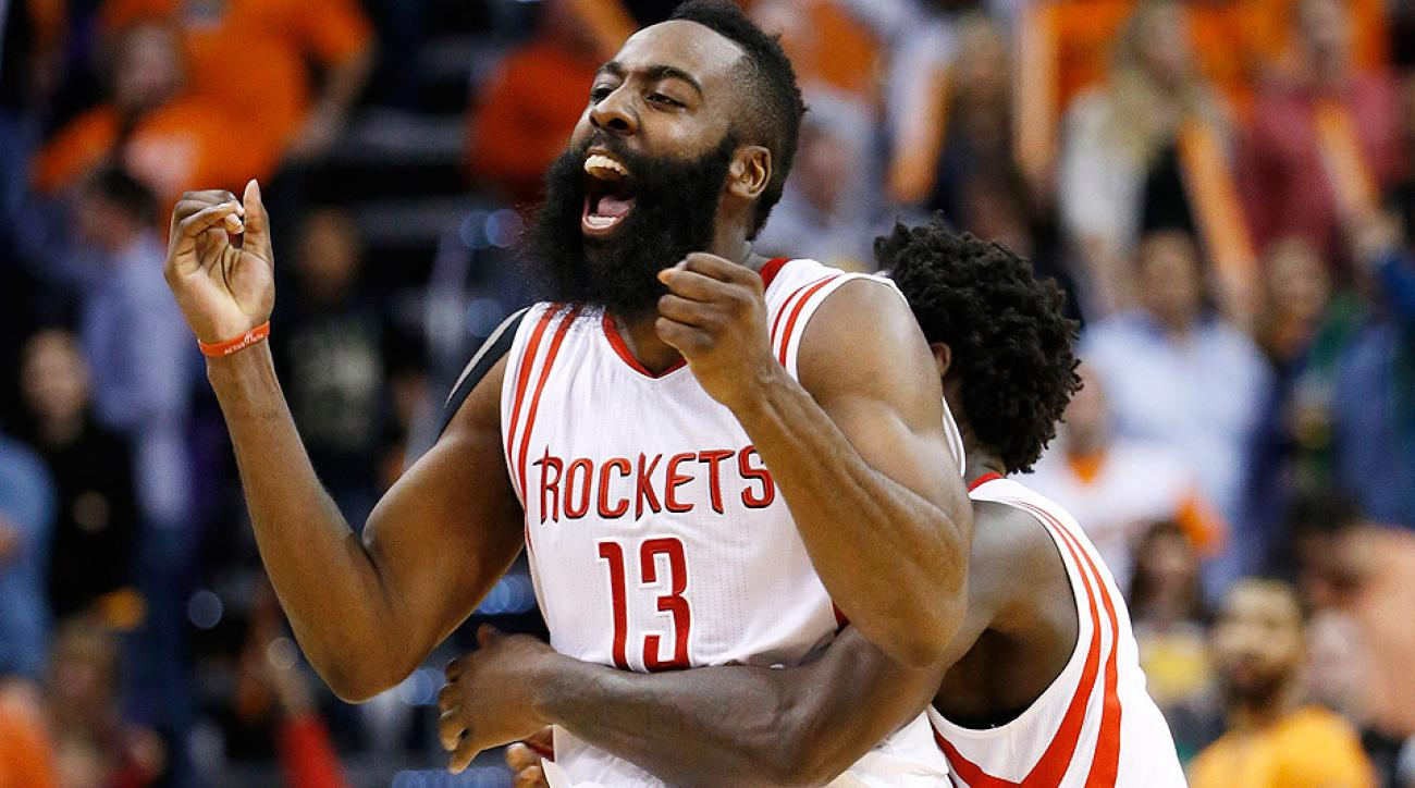 James Harden hit a buzzer-beating jumper to defeat the Suns.