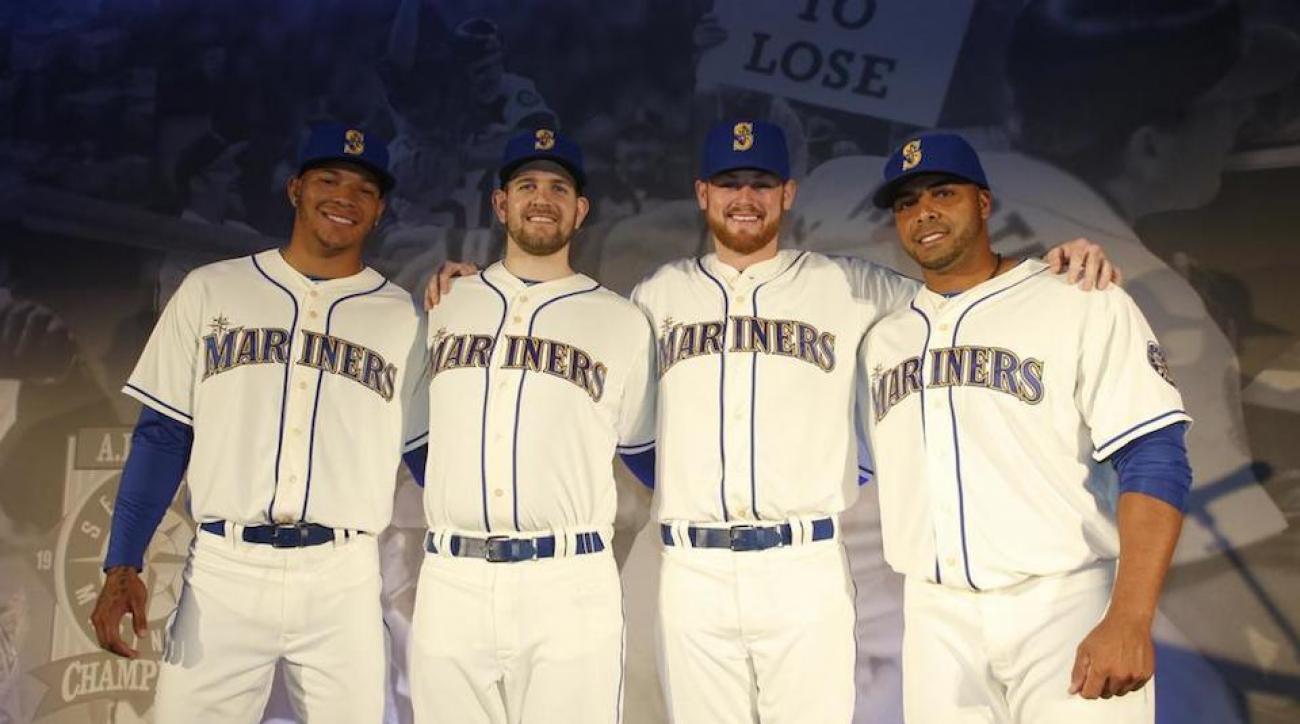 seattle mariners new uniform gold